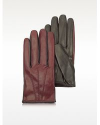 Patrizia Pepe - Two Tone Furlined Leather Gloves - Lyst