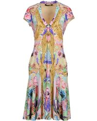 Roberto Cavalli Short Sleeve Jersey Short Dress - Lyst