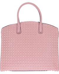 Valentino Studded Tote pink - Lyst