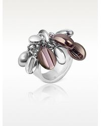 Zoppini - Coffee Collection Stainless Steel Charm Ring - Lyst