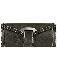 Buti - Black Embossed Leather Envelope Clutch - Lyst