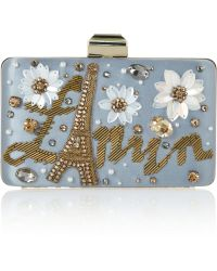 Lanvin - Sea Breeze Embellished Satin Box Clutch - Lyst