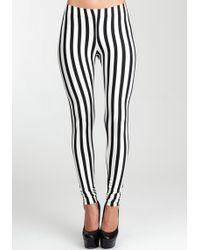 Bebe Stripe Legging - Lyst