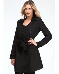 Bebe Daria Soft Trench Coat - Lyst