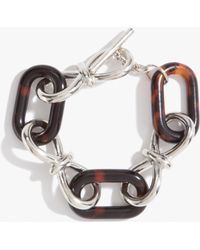 Bebe - Looped Chainlink Tortoise Toggle Bracelet - Lyst