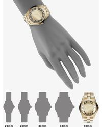 Marc By Marc Jacobs Henry Skeleton Goldtone Stainless Steel Bracelet Watch - Lyst