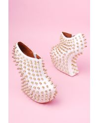 Jeffrey Campbell Studded Wedge Boots - Lyst