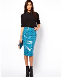 ASOS Collection Asos Leather Pencil Skirt - Lyst
