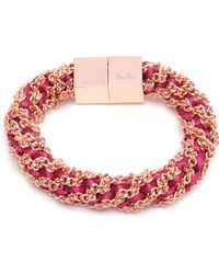 Bex Rox - Gina Twisted Rose Gold Bracelet - Lyst