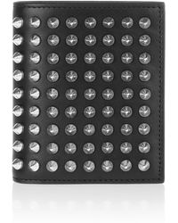 Christian Louboutin Paros Spiked Leather Wallet - Lyst