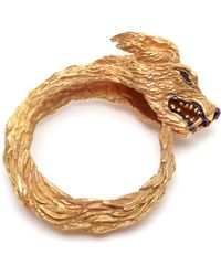 Duffy - Hand-made Gold Plated Wolf Cuff - Lyst