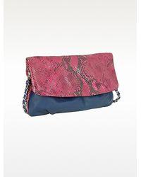 Elie Tahari - Emory Glazed Python Shoulder Bag - Lyst