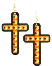 Sam Ubhi - Funky Bling Oversized Cross Earrings - Lyst