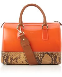 Furla Snake Mix Jelly Bag - Lyst