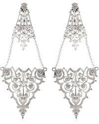 Iam By Ileana Makri - Chantilly Lace Chandelier Earrings - Lyst