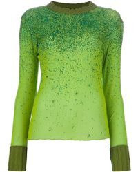 Jean Paul Gaultier Long Sleeve Glitter Top - Lyst