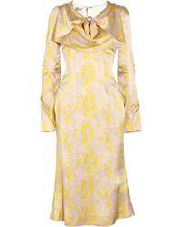 L'Wren Scott Printed Textured Silk Dress - Lyst