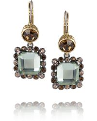 Marc By Marc Jacobs - Dangly Brass and Crystal Earrings - Lyst