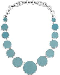 Michael Kors Turquoise Slice Necklace silver - Lyst