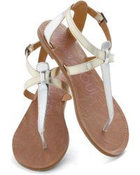 ModCloth Raise The Sandbar Sandal in Metallic - Lyst