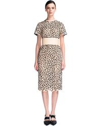Proenza Schouler High Frequency Lace Short Sleeve Dress with Obi - Lyst