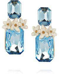 Roberto Cavalli Swarovski Crystal Clip Earrings - Lyst