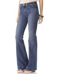 Textile Elizabeth and James - Linda Wide Leg Jeans - Lyst