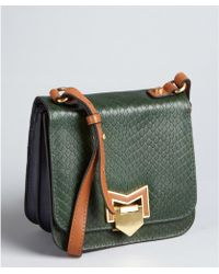 Treesje - Emerald Snake Embossed Coast Shoulder Bag - Lyst