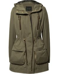 Zara Hooded Parka with Gusseted Pockets - Lyst