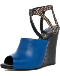3.1 Phillip Lim Juliette Wedge Sandal in Electric Blue - Lyst