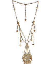 Blumarine - Multi Chain Necklace with Pendant - Lyst