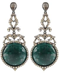 Bochic - Emerald and Diamond Drop Earrings - Lyst