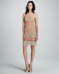 Catherine Malandrino Embroidered Sleeveless Dress - Lyst