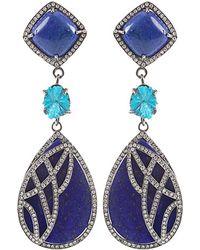Colette Lapis Lazuli Drop Earrings - Lyst