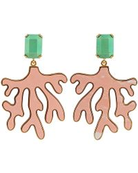 House of Lavande - Stone and Coral Earrings - Lyst