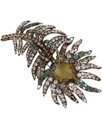 Iradj Moini - Citrine and Emerald Feather Pin - Lyst