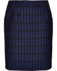 Topshop Graphic Check Pencil Skirt - Lyst