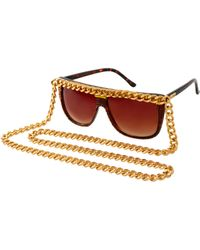A-morir - Amorir Lovehate Chain Glasses - Lyst