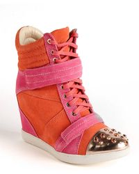 Boutique 9 Nevan Suede Wedge Sneakers - Lyst