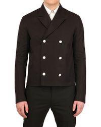 Dior Homme Cotton Gabardine Pea Coat black - Lyst