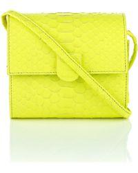 Nina Peter Python Box Bag yellow - Lyst