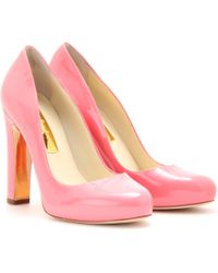 Rupert Sanderson Denia Patent Leather Platform Pumps - Lyst