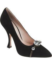 Miu Miu Faceted Crystal Pump - Lyst