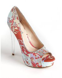 Boutique 9 Claudius Glitter Printed Pumps - Lyst