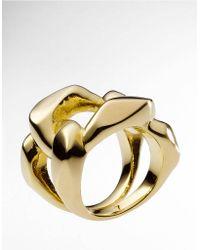 Michael Kors - Golden Chain Link Ring - Lyst