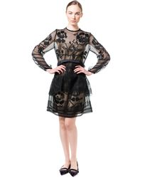 Alberta Ferretti Macrame Tunic Dress - Lyst