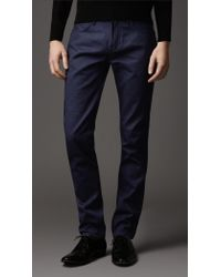 Burberry Shoreditch Deep Indigo Skinny Fit Jeans - Lyst