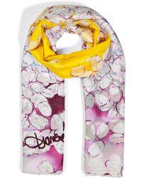 Diane von Furstenberg Violetmulti Silk Petal Clouds Valencia Scarf - Lyst