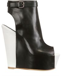 Gianmarco Lorenzi 150mm Open Toe Calfskin Wedges - Lyst