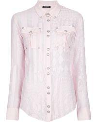 Balmain Miami Printed Shirt pink - Lyst